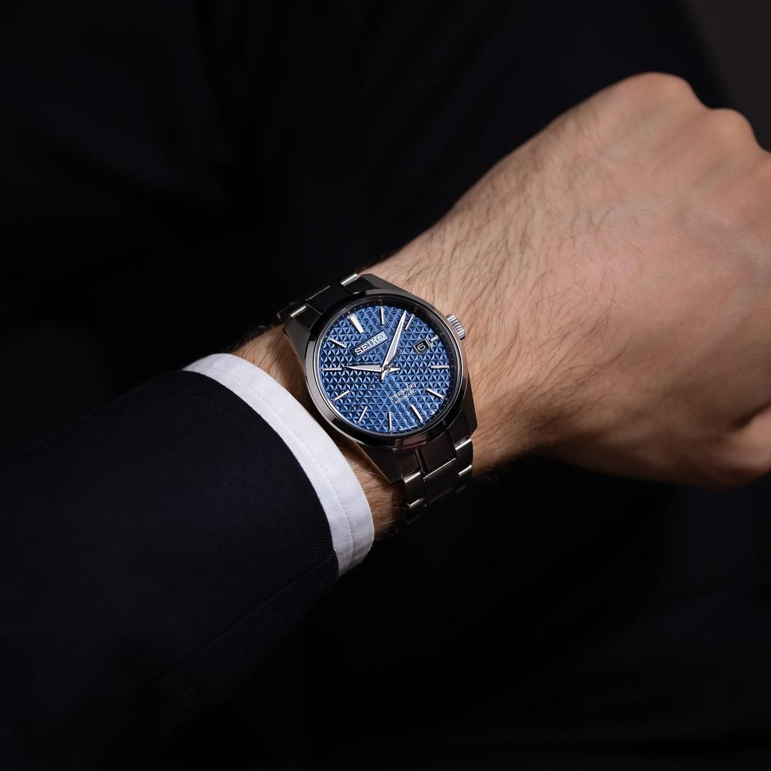Seiko SPB167J1 Presage Sharp Edged Series Presage klasyczny zegarek srebrny