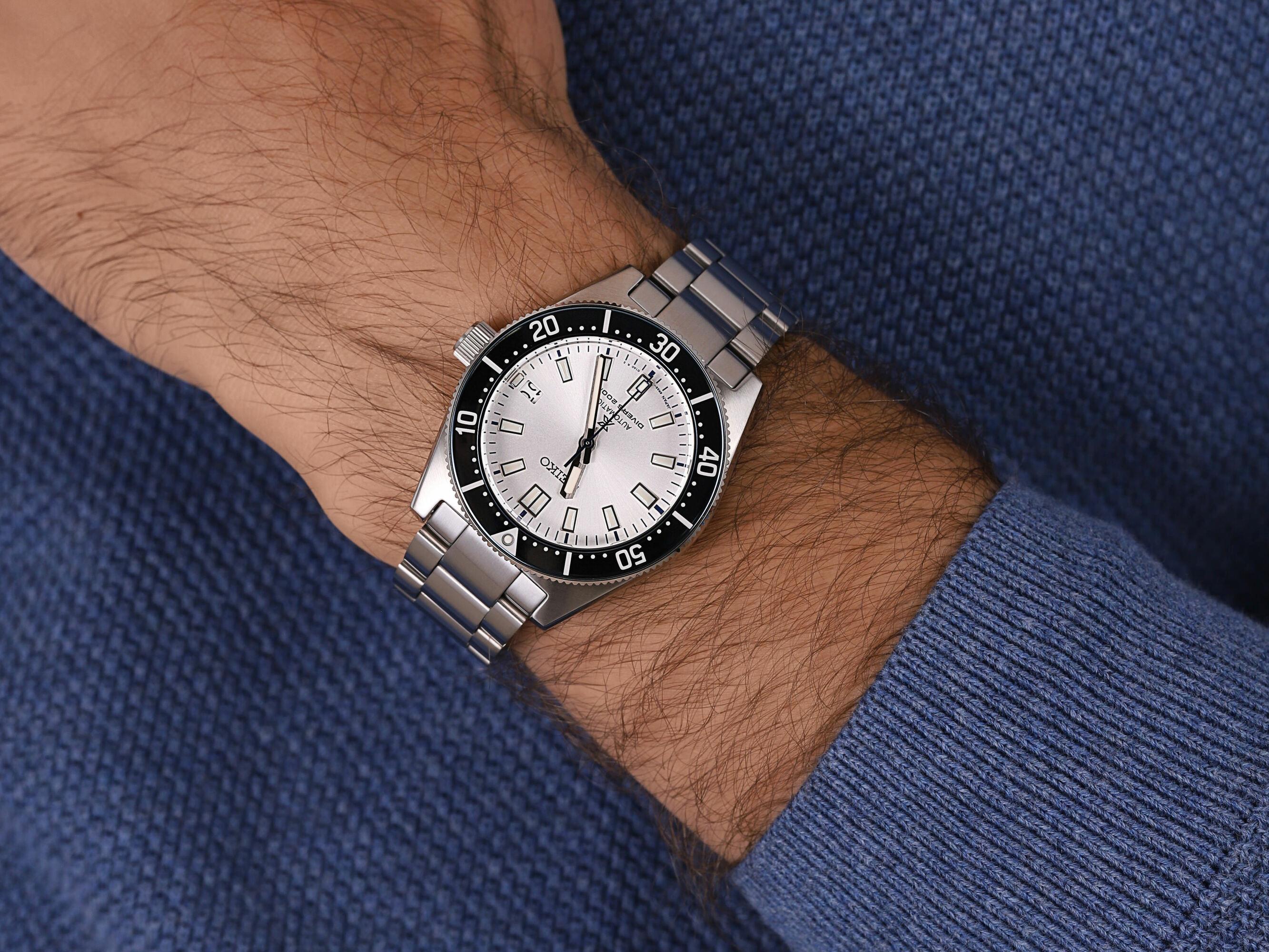 Seiko SPB213J1 męski zegarek Prospex bransoleta