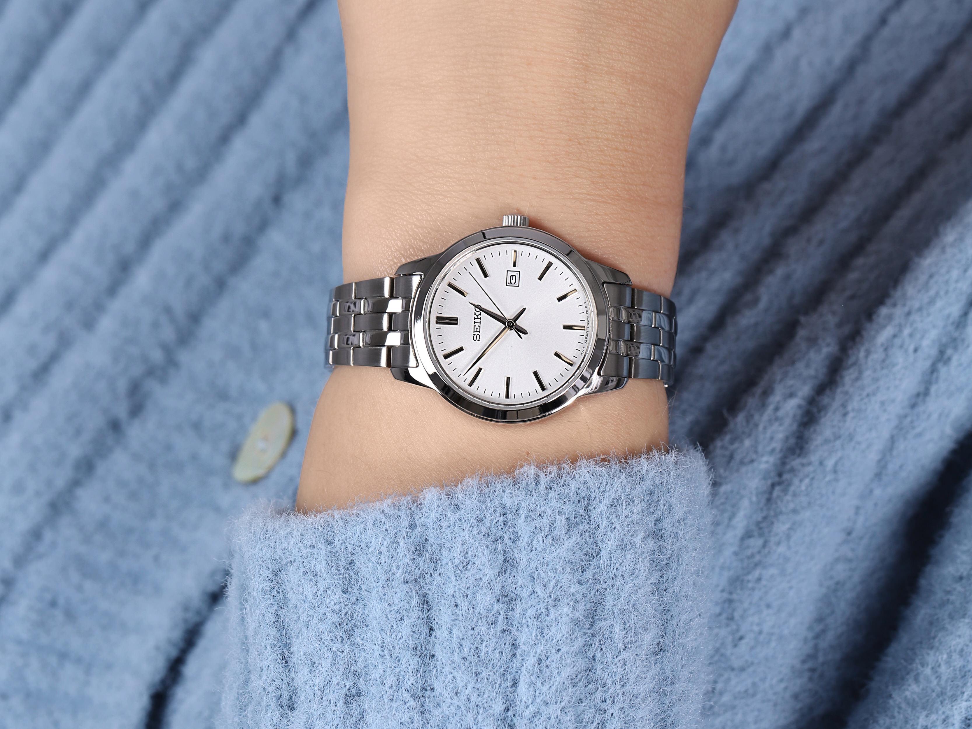 Seiko SUR405P1 damski zegarek Classic bransoleta