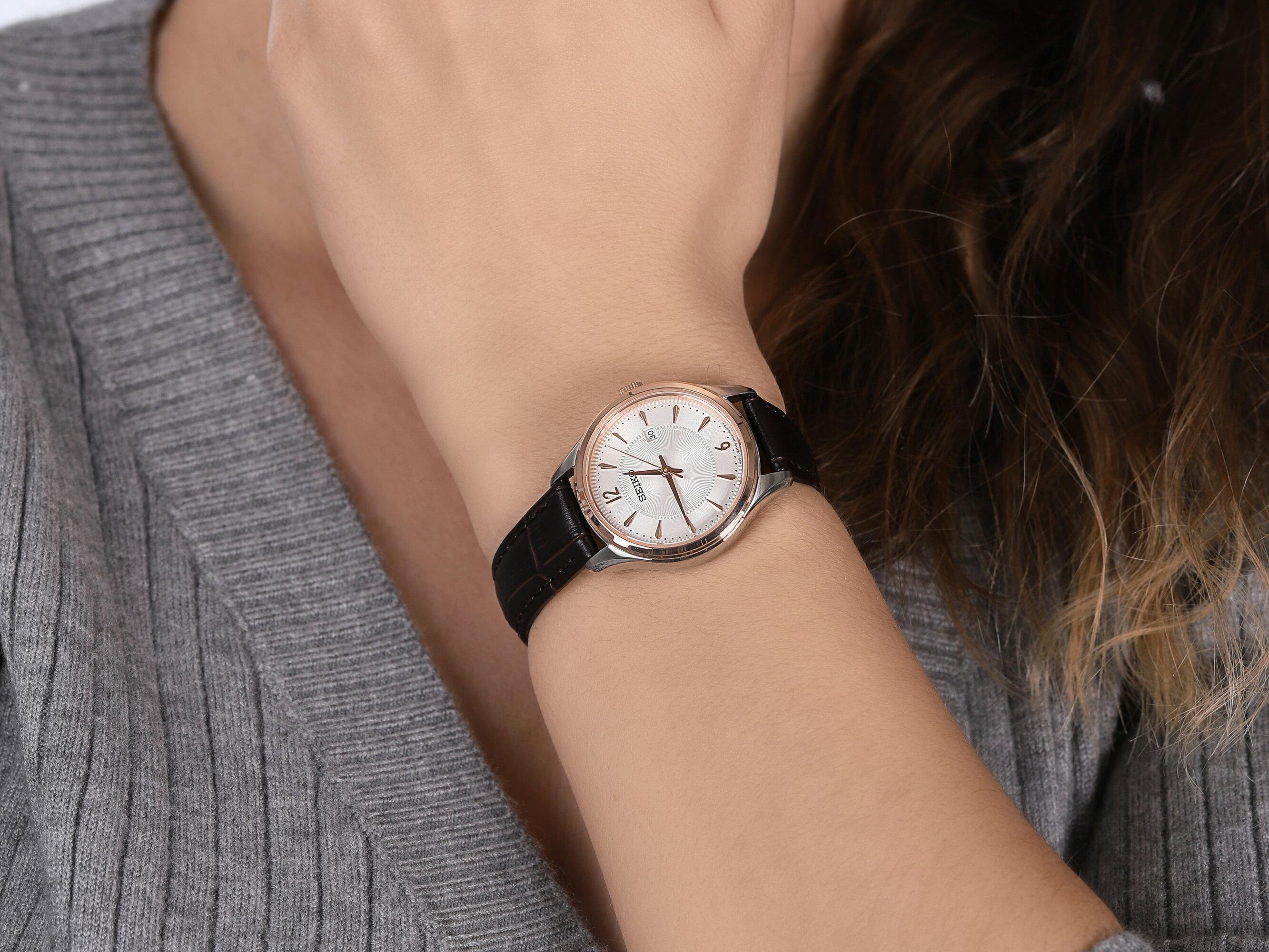 Seiko SUR428P1 damski zegarek Classic pasek