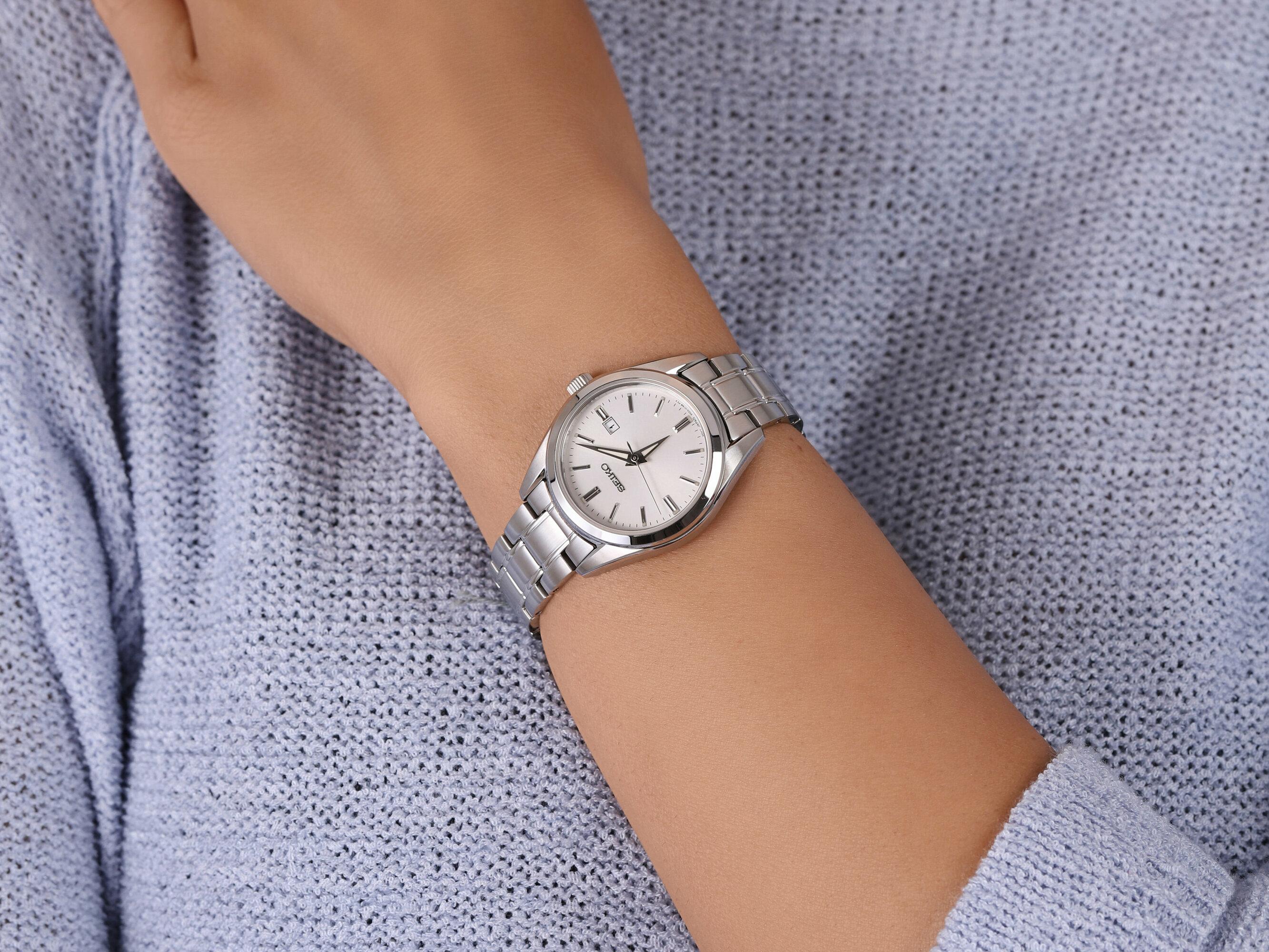Seiko SUR633P1 damski zegarek Classic bransoleta