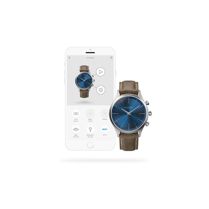 Kronaby S3759-1 smartwatch srebrny klasyczny Sekel pasek
