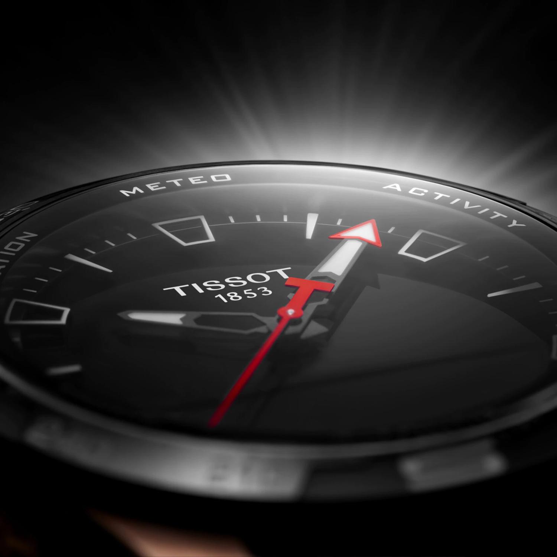 smartwatch Tissot T121.420.47.051.02 różowe złoto Tissot T-Touch Connect Solar
