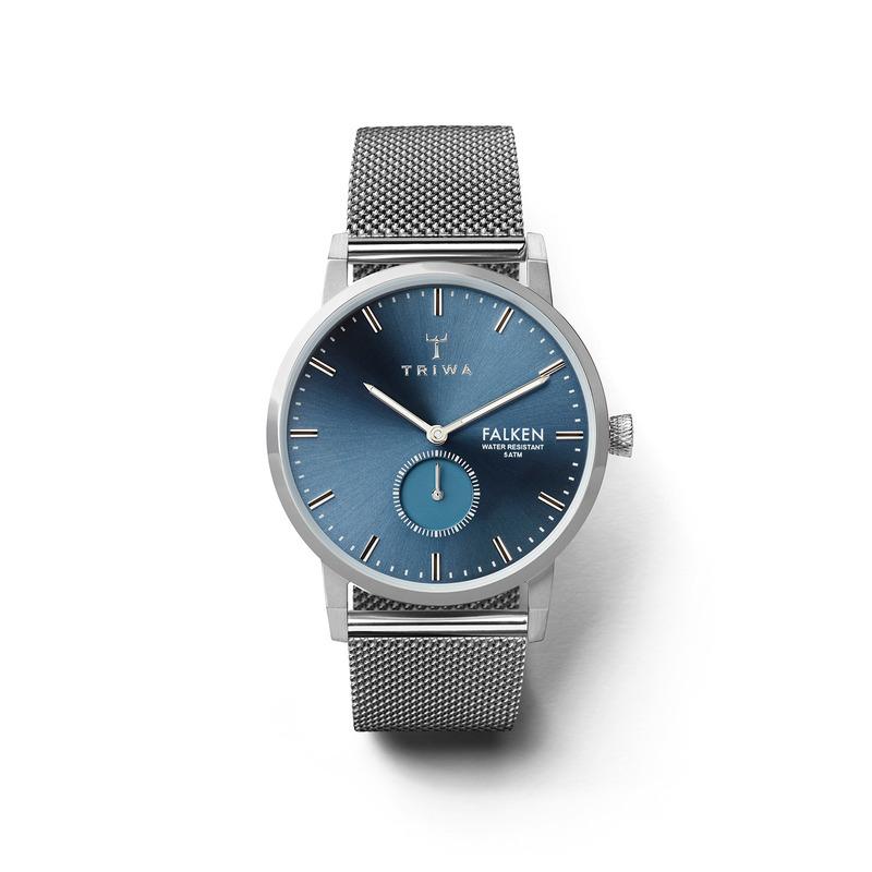 Triwa FAST121-ME021212 zegarek srebrny klasyczny Falken bransoleta