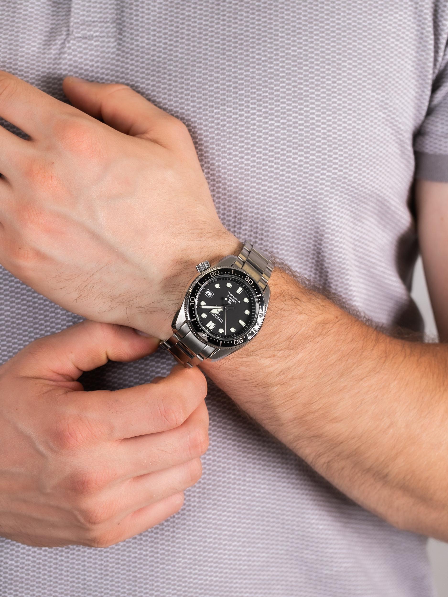 Seiko SPB077J1 męski zegarek Prospex bransoleta