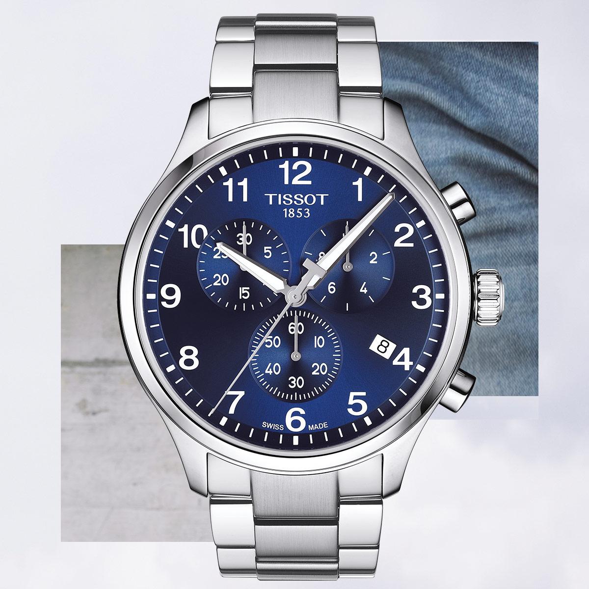 zegarek Tissot T116.617.11.047.01 srebrny Chrono XL