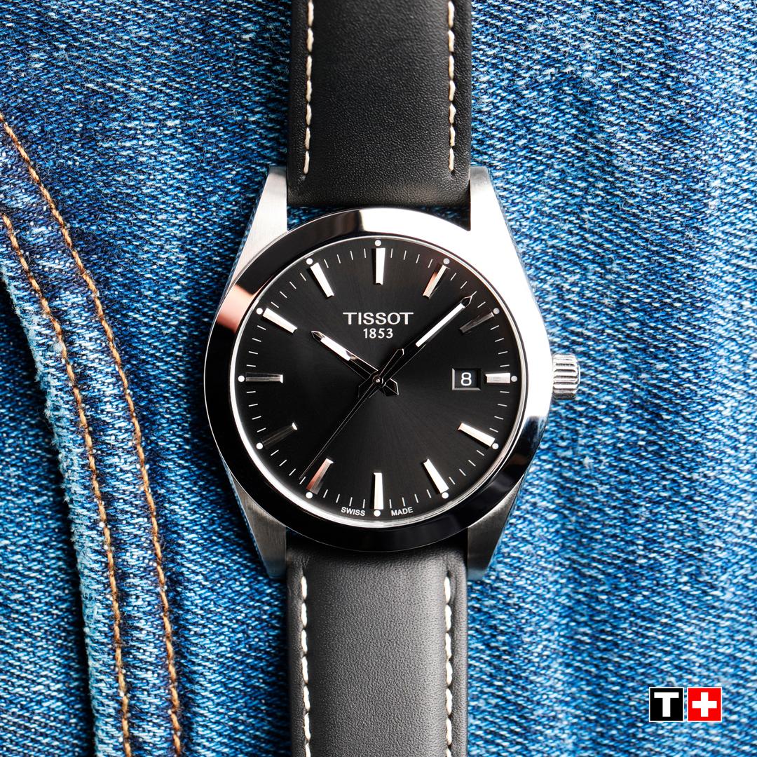 zegarek Tissot T127.407.16.051.00 srebrny Gentleman
