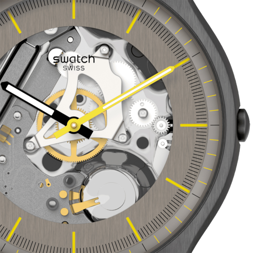 SS07M103 męski zegarek Skin pasek