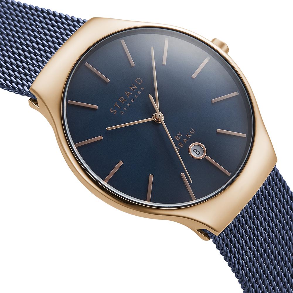 Strand S701GDVLML zegarek różowe złoto klasyczny Caspian bransoleta