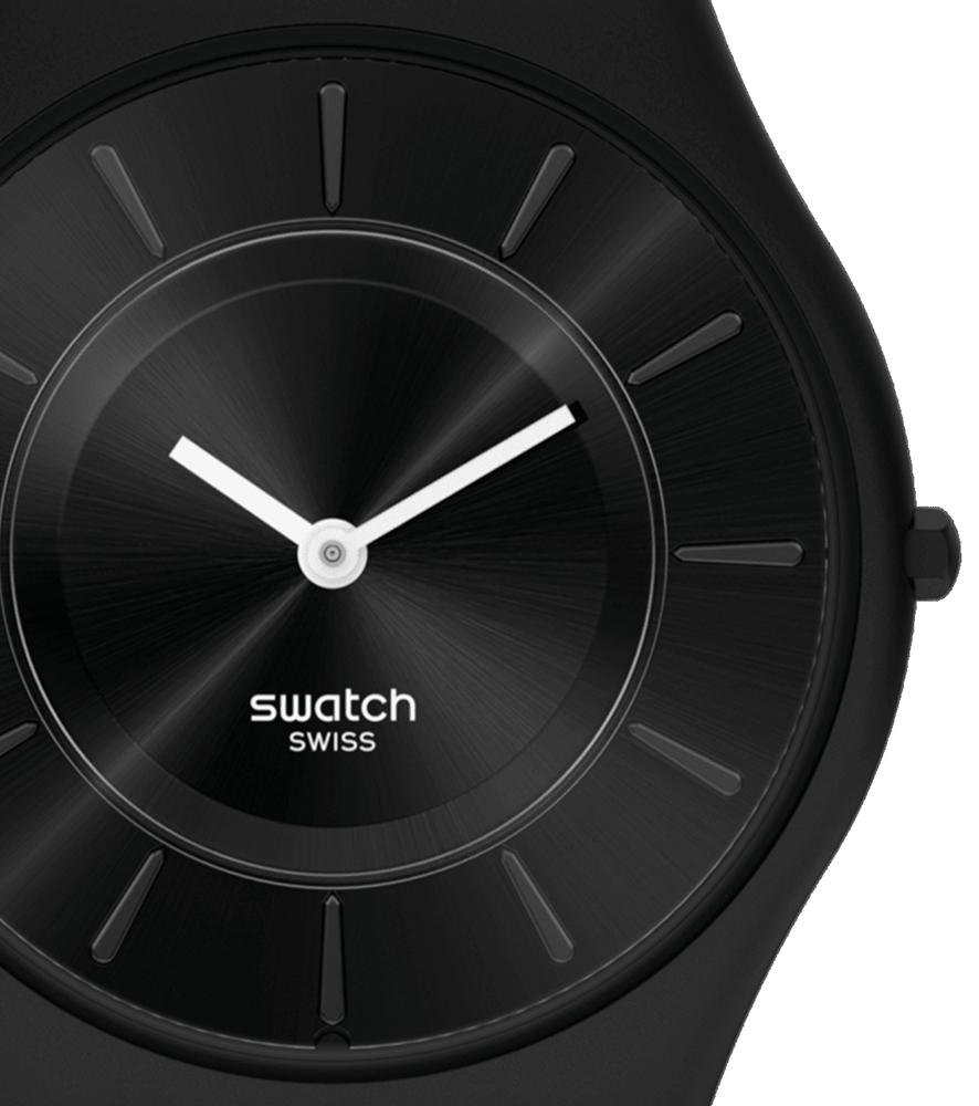 Swatch SS08B100 zegarek niebieski klasyczny Skin Classic pasek
