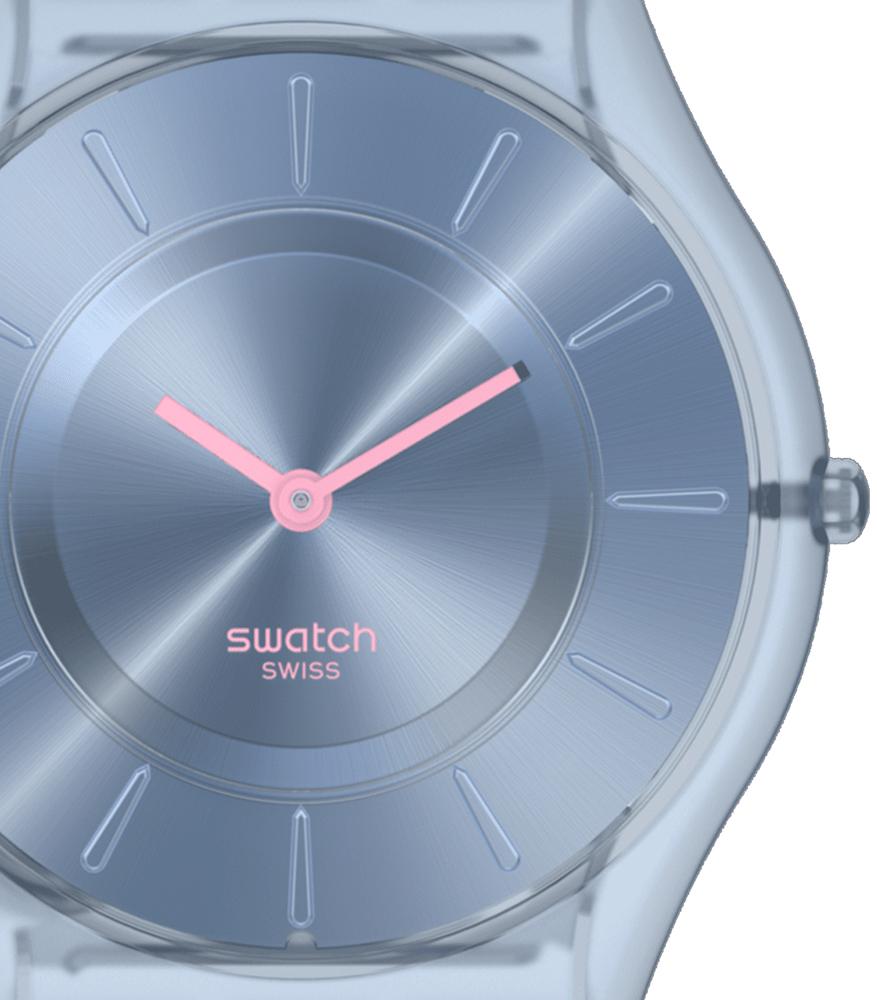 Swatch SS08N100 zegarek niebieski klasyczny Skin Classic pasek