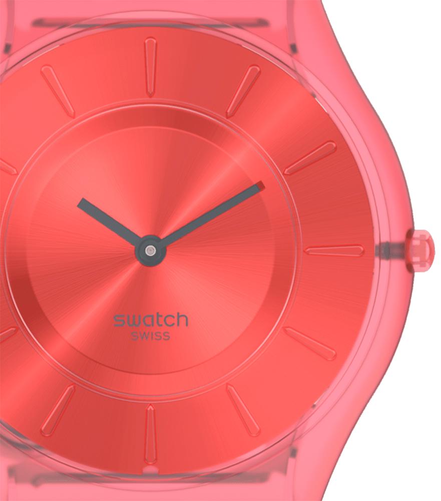 Swatch SS08R100 zegarek różowy klasyczny Skin Classic pasek