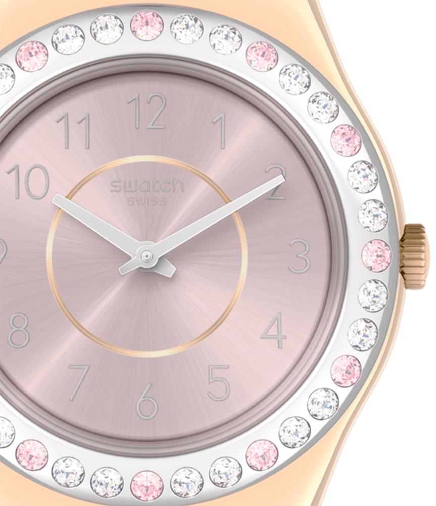 Swatch YLG147 zegarek złoty fashion/modowy Irony pasek