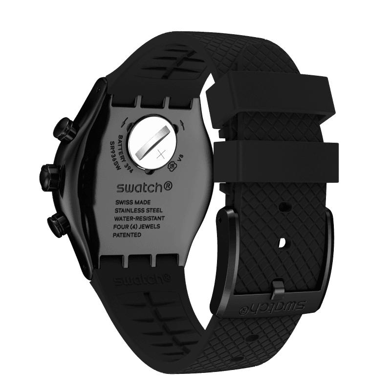 Swatch YVB408 zegarek czarny fashion/modowy Irony pasek