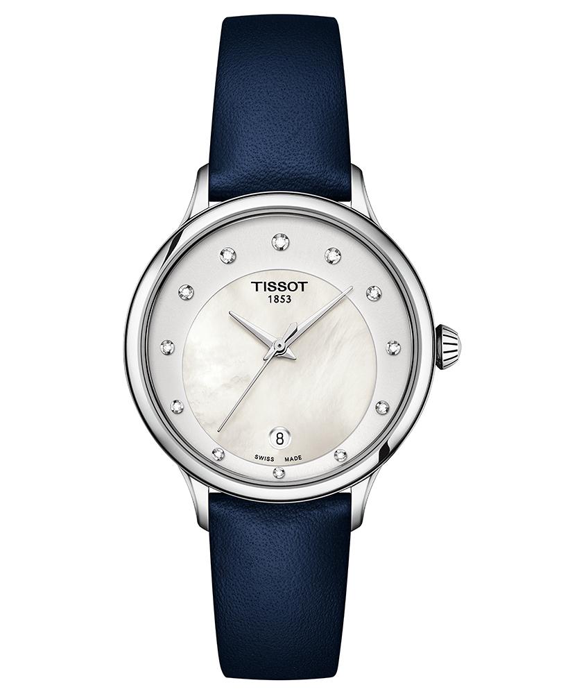 T133.210.16.116.00 zegarek różowe złoto elegancki Odaci-T pasek