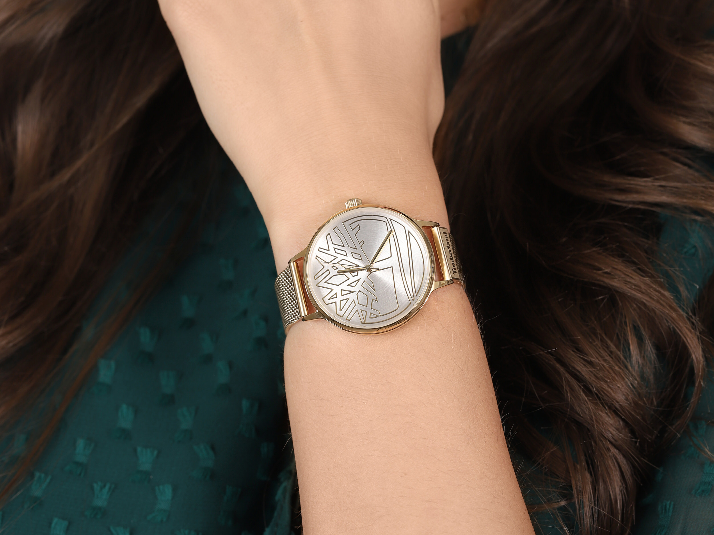 Timberland TBL.15644MYG-04MM damski zegarek Tyringham bransoleta