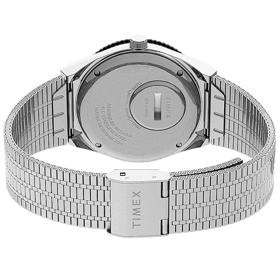 Timex TW2U61800 zegarek czarny klasyczny Q Timex Reissue bransoleta