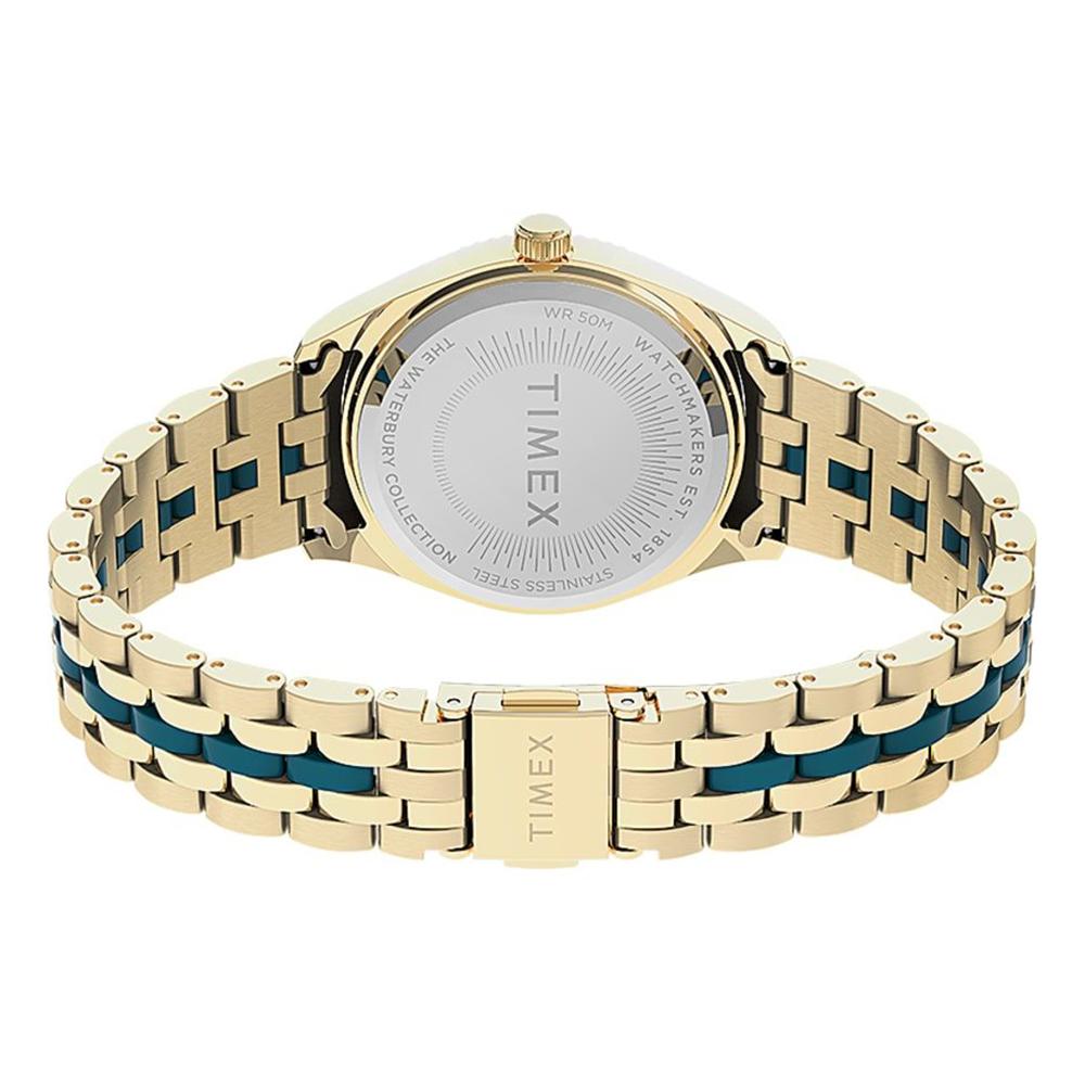 Timex TW2U82600 zegarek złoty klasyczny Waterbury bransoleta