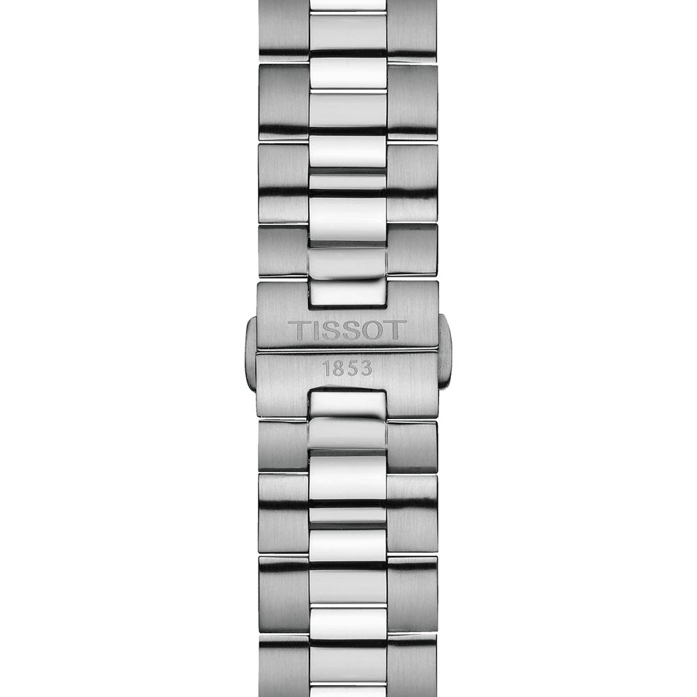 Tissot T127.410.44.041.00 zegarek szary klasyczny Gentleman bransoleta