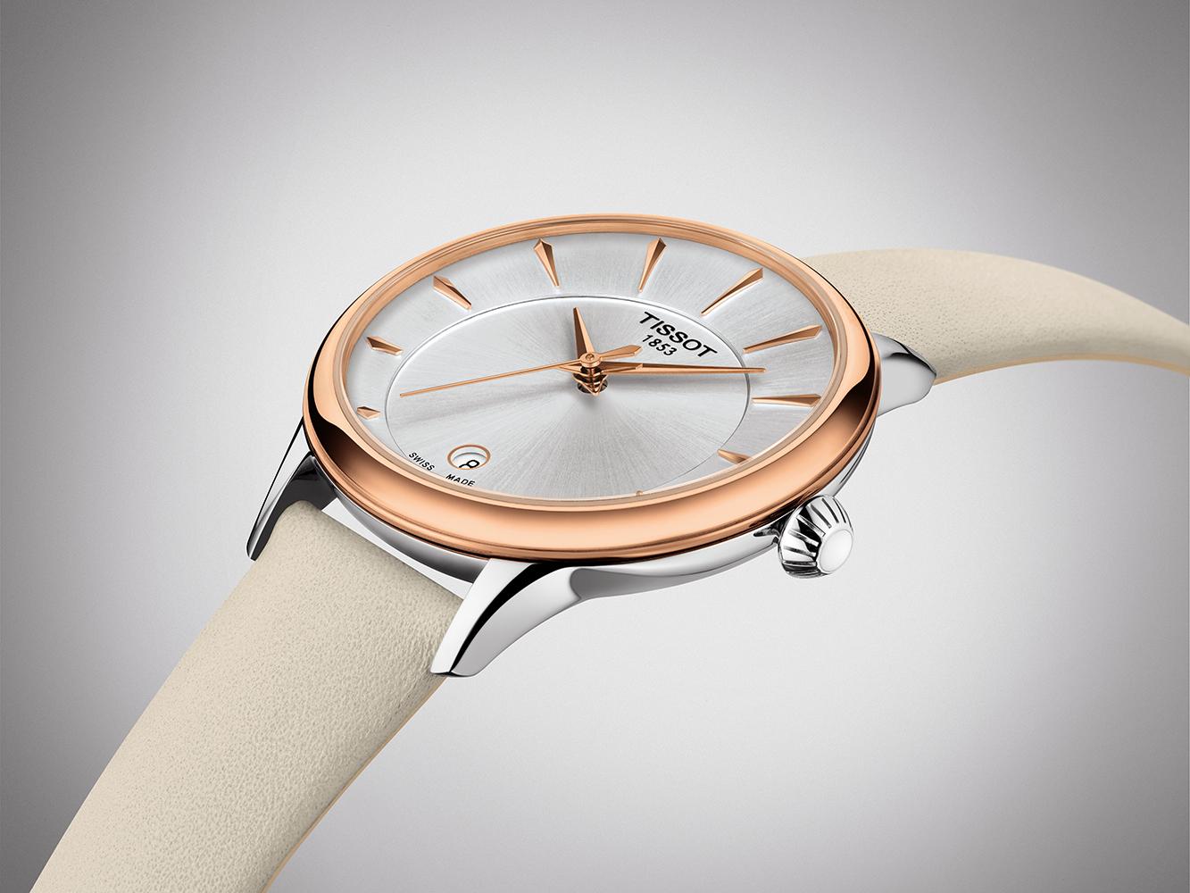 Tissot T133.210.26.031.00 zegarek różowe złoto elegancki Odaci-T pasek