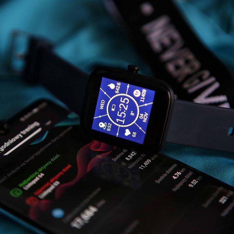 Vector Smart VCTR-31-01BK-S1NB 42mm Niebieski zegarek sportowy Smartwatch