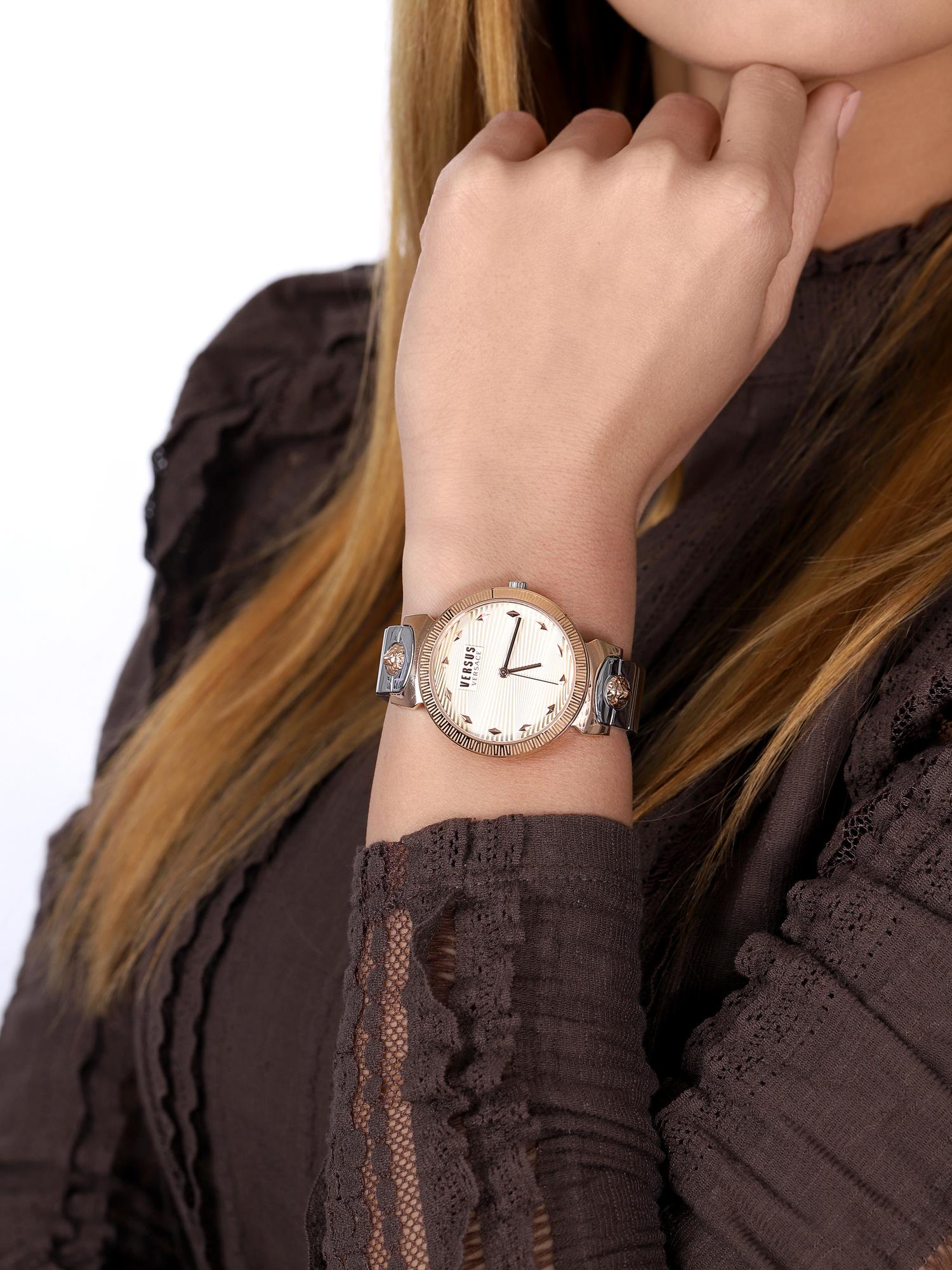 Versus Versace VSPEO0819 zegarek różowe złoto klasyczny Damskie bransoleta
