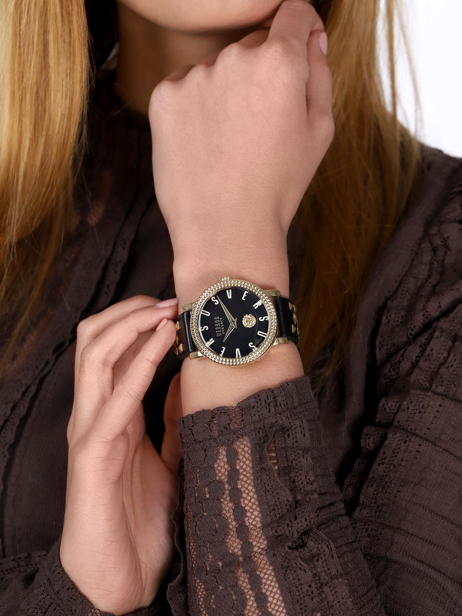Versus Versace VSPEU0219 zegarek złoty fashion/modowy Damskie pasek