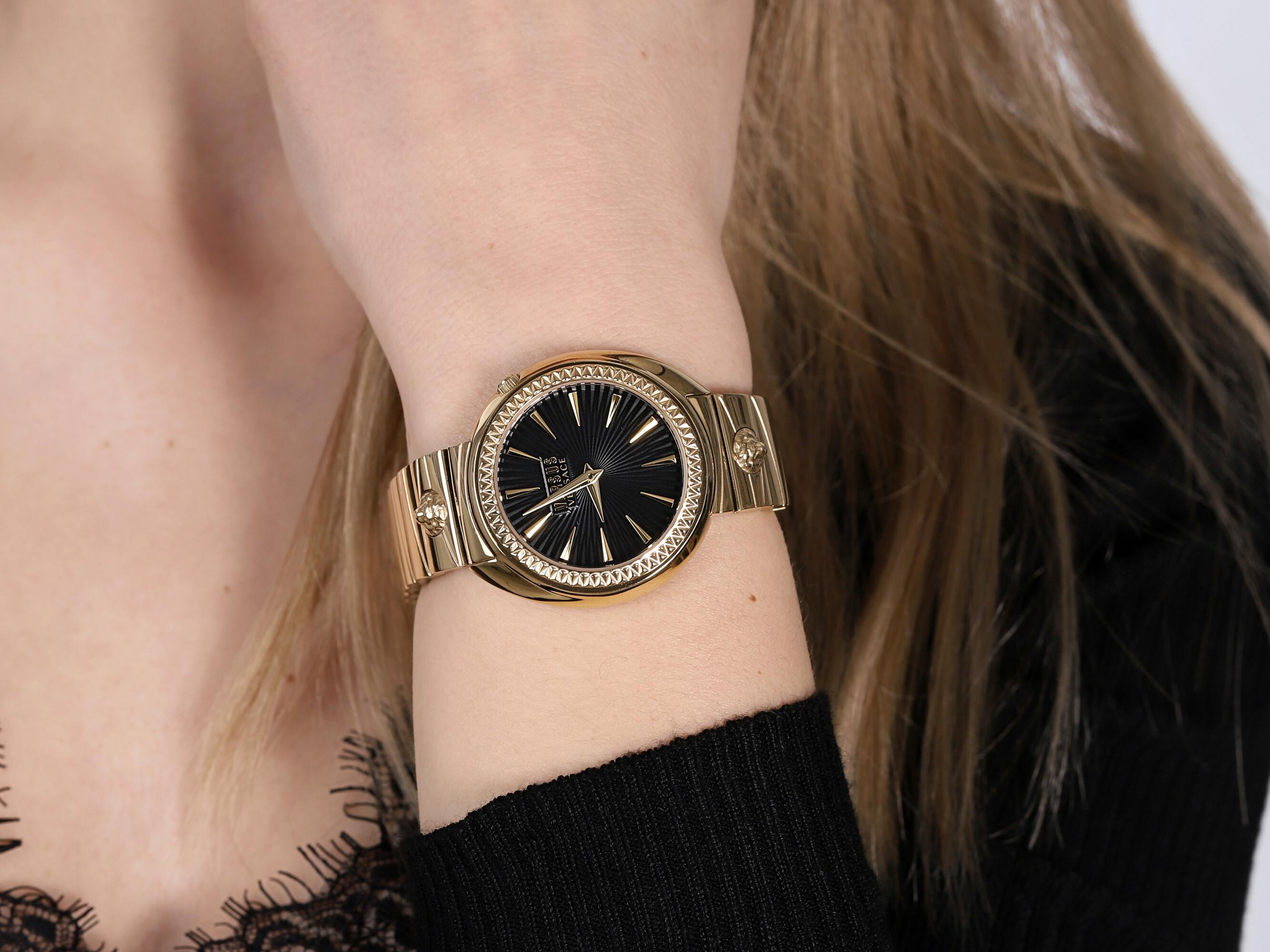 Versus Versace VSPHF1020 zegarek złoty klasyczny Damskie bransoleta