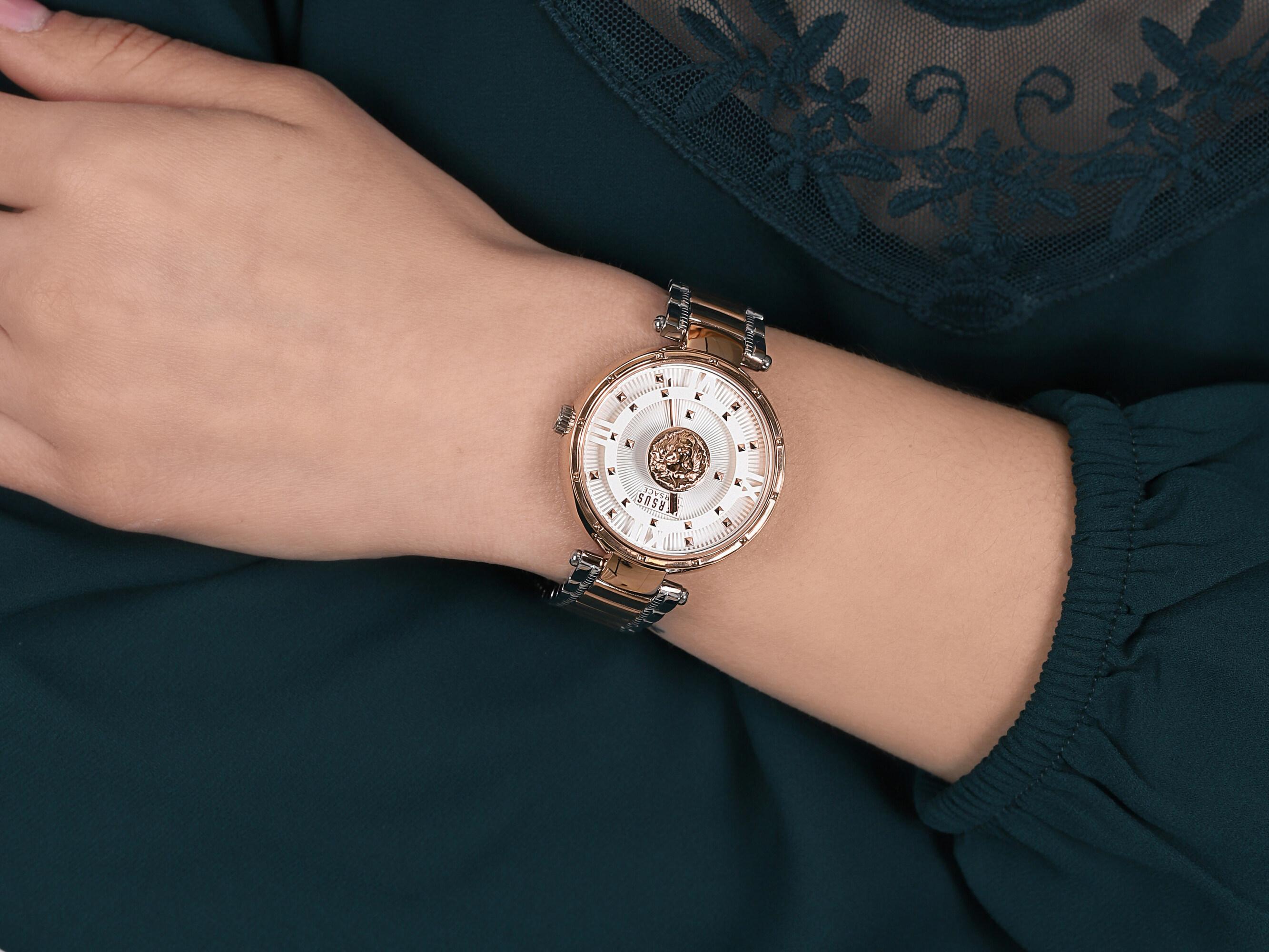 Versus Versace VSPHH0820 zegarek srebrny klasyczny Damskie bransoleta