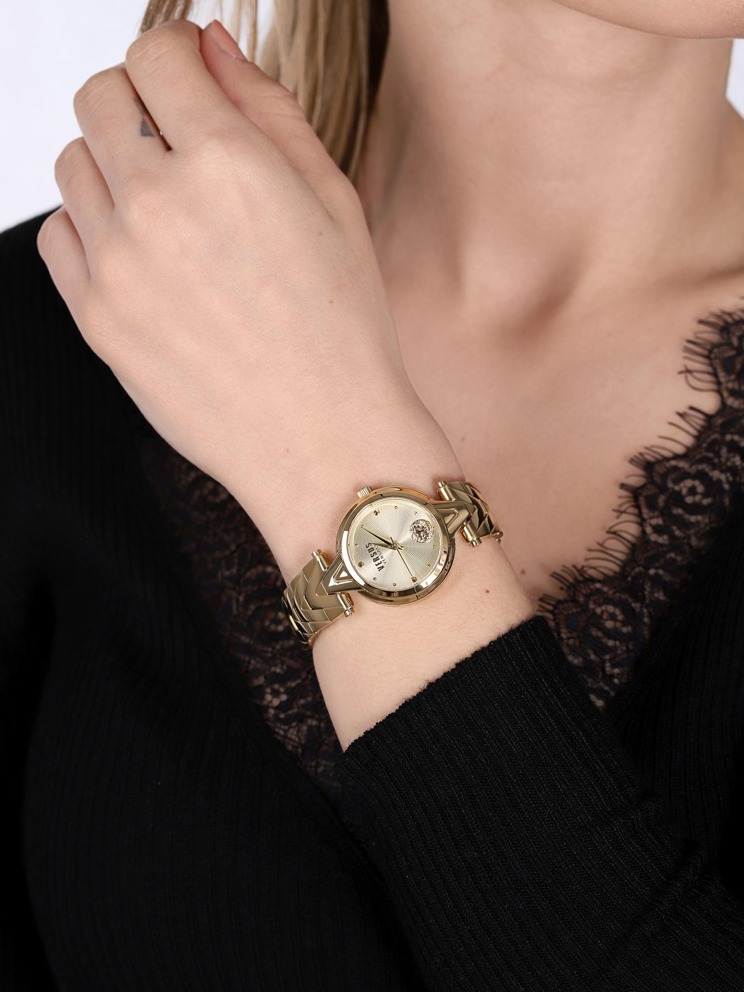 Versus Versace VSPVN0820 zegarek złoty klasyczny Damskie bransoleta