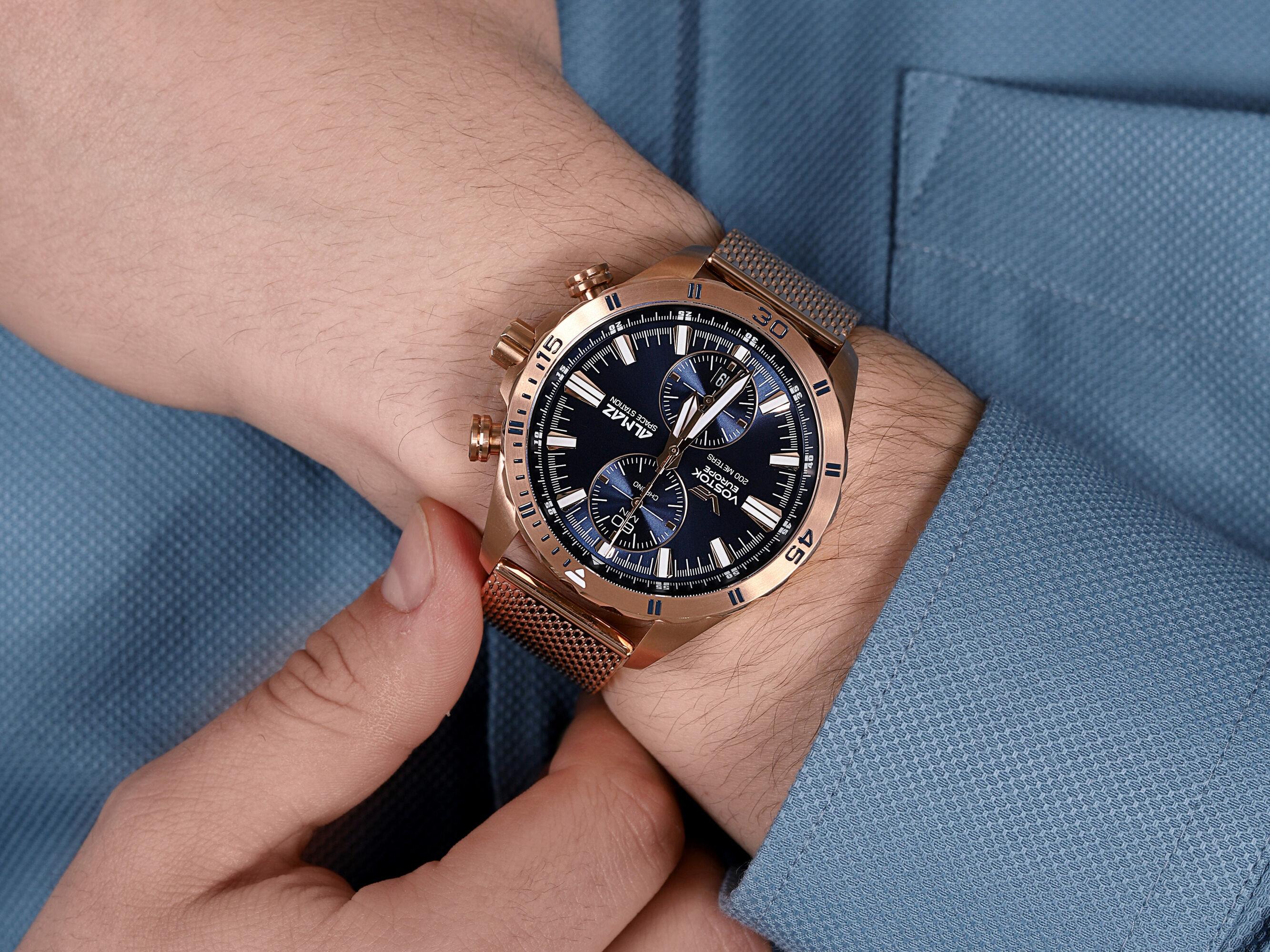 Vostok Europe 6S11-320B262B Almaz Chrono zegarek klasyczny Almaz