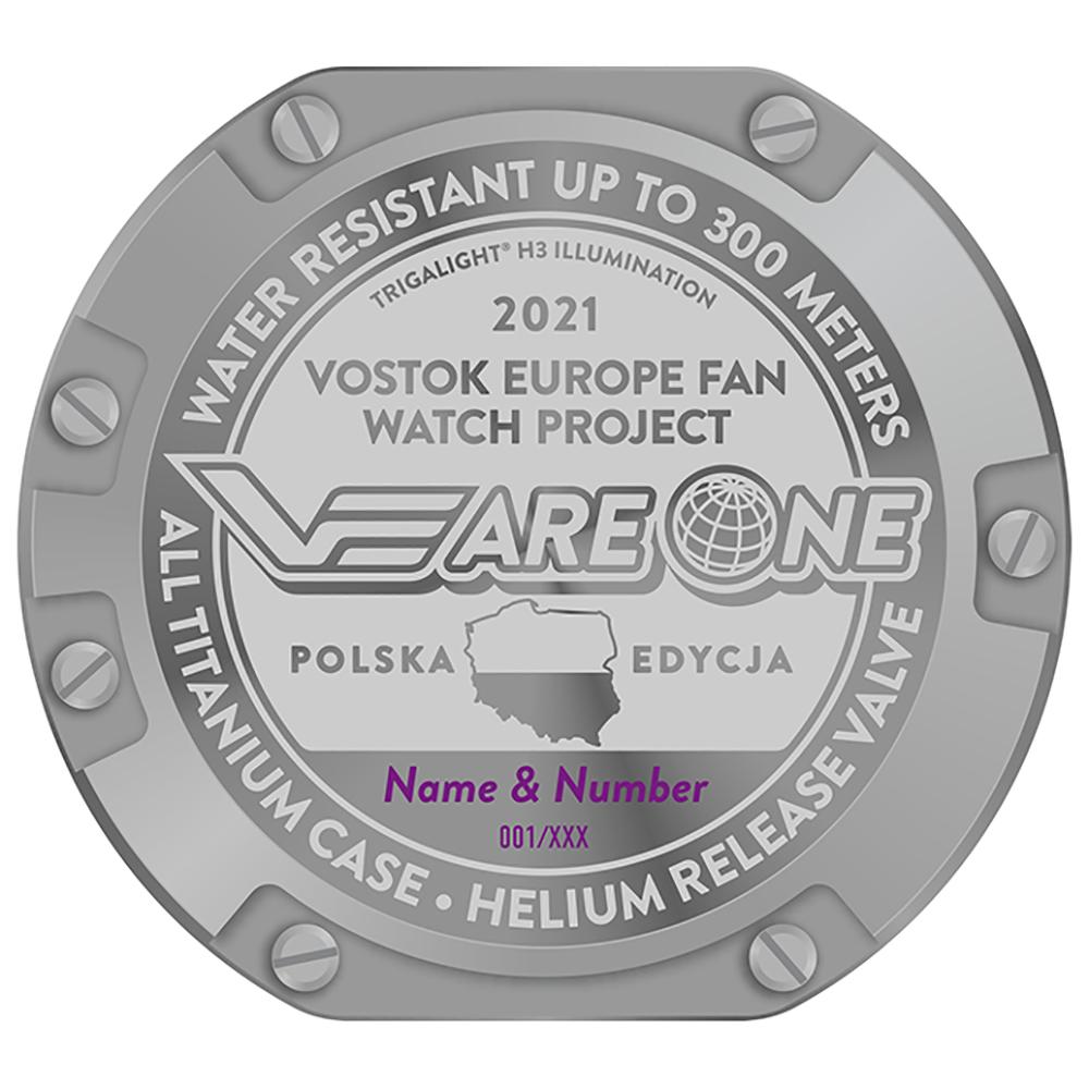 Vostok Europe PX84-620H658 zestaw XL męski zegarek Special Editions pasek