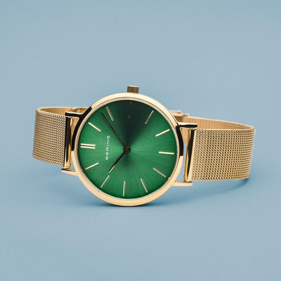 Bering 14134-338 zegarek złoty klasyczny Classic bransoleta