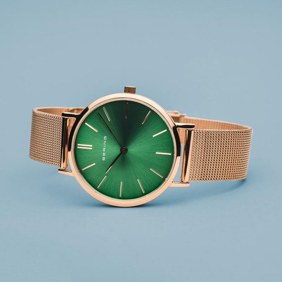 Bering 14134-368 zegarek różowe złoto klasyczny Classic bransoleta