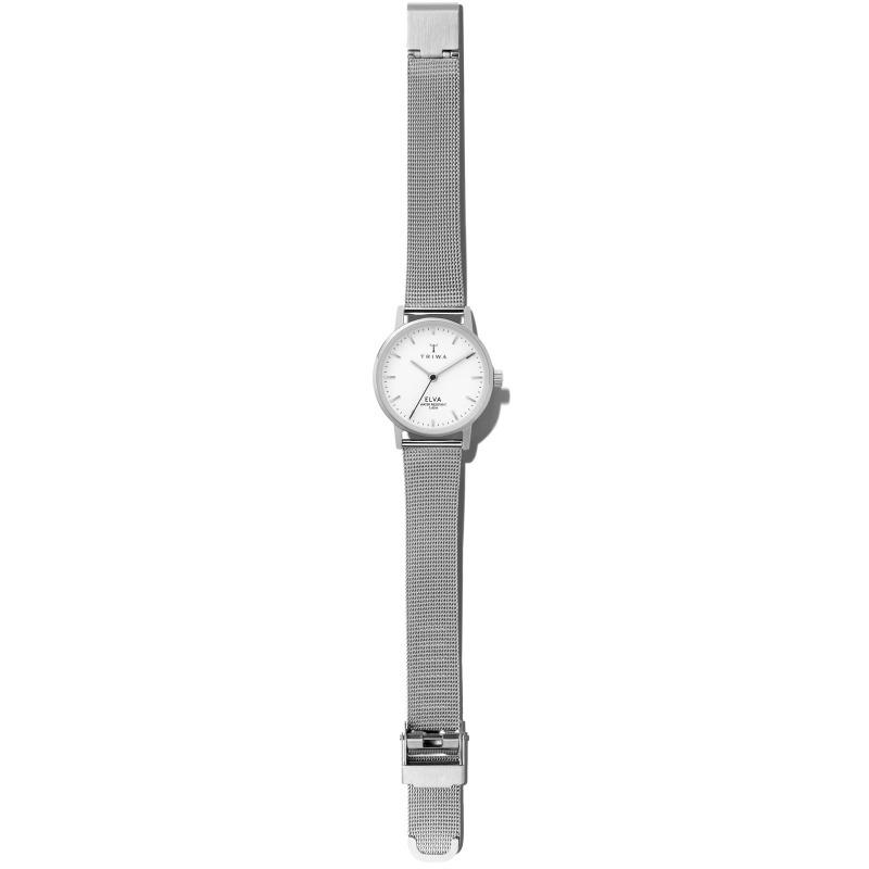 Triwa ELST101-EM021212 zegarek srebrny klasyczny Elva bransoleta