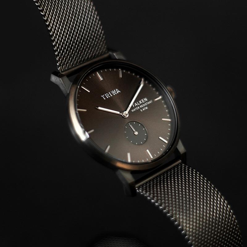 Triwa FAST125-ME023412 zegarek szary klasyczny Falken bransoleta