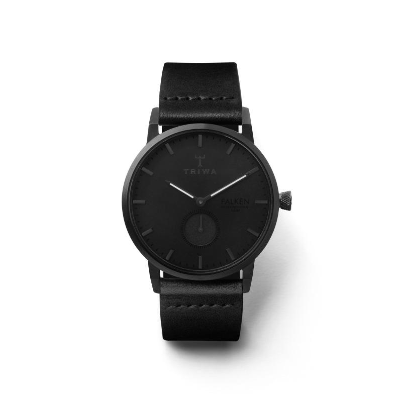 Triwa FAST115-CL110101 zegarek czarny klasyczny Falken pasek