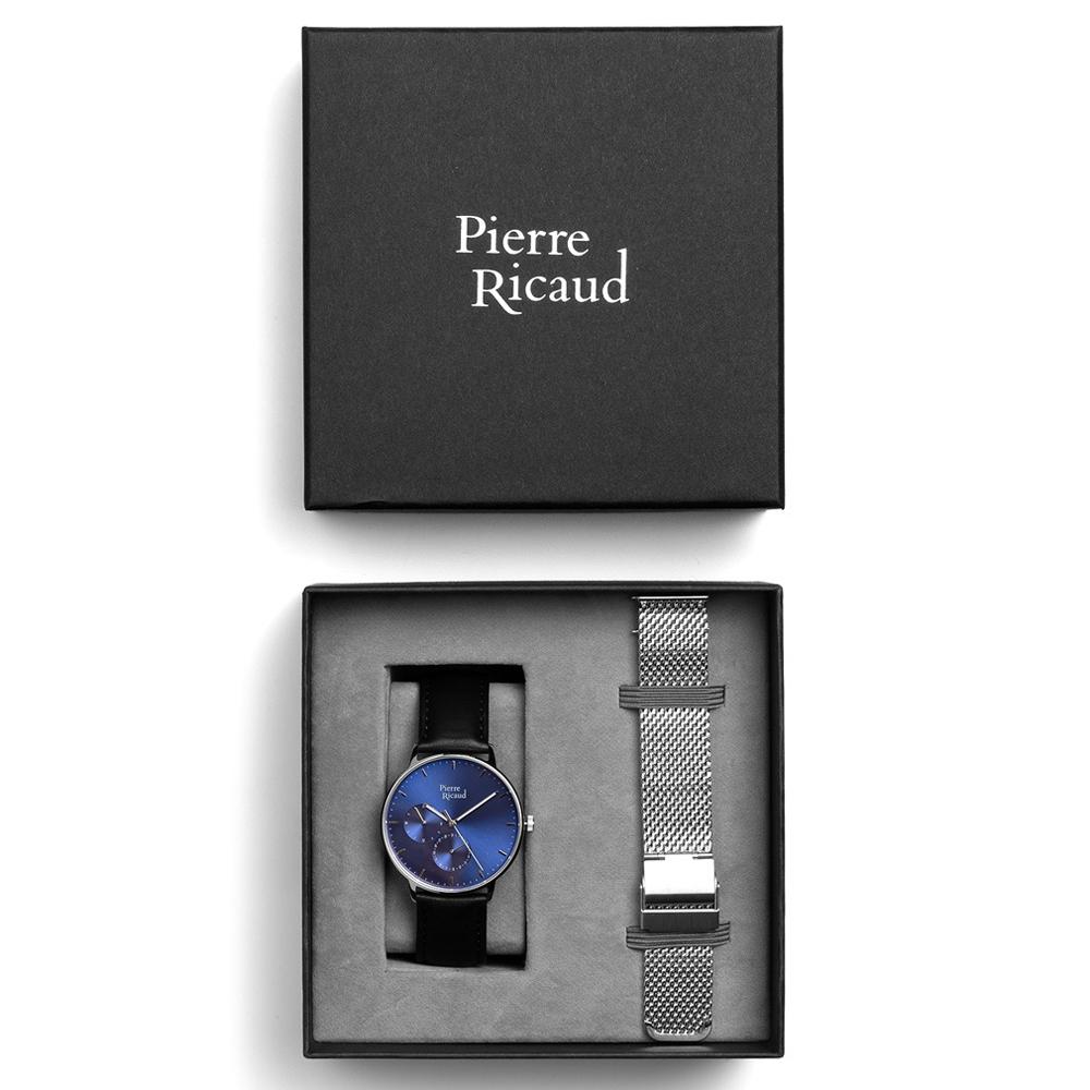 Pierre Ricaud P91079.5215QF-SET męski zegarek Pasek pasek