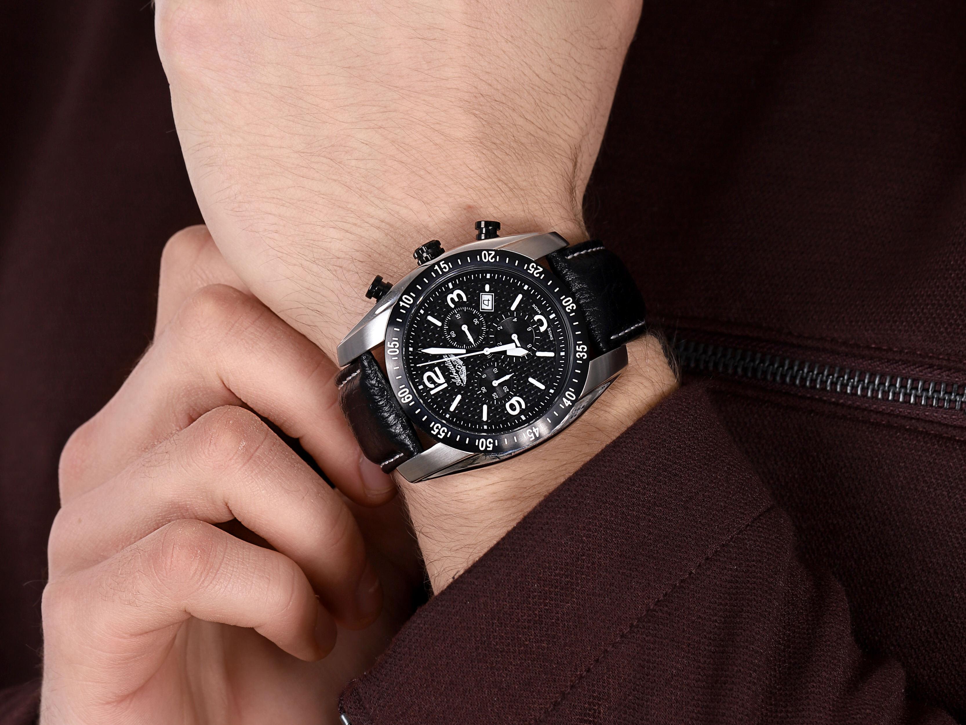 zegarek Adriatica A1181.Y254CH męski z chronograf Pasek