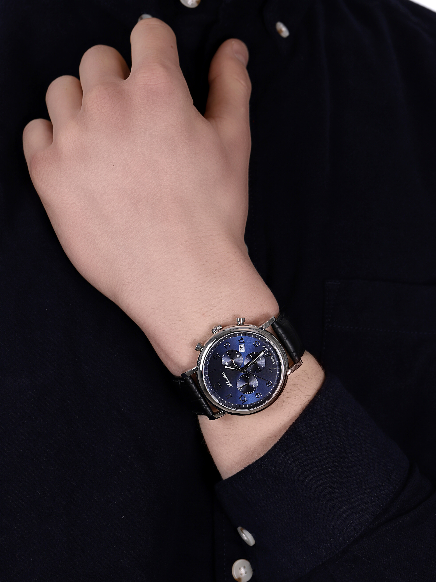zegarek Adriatica A8297.5225CH Chronograph męski z chronograf Pasek