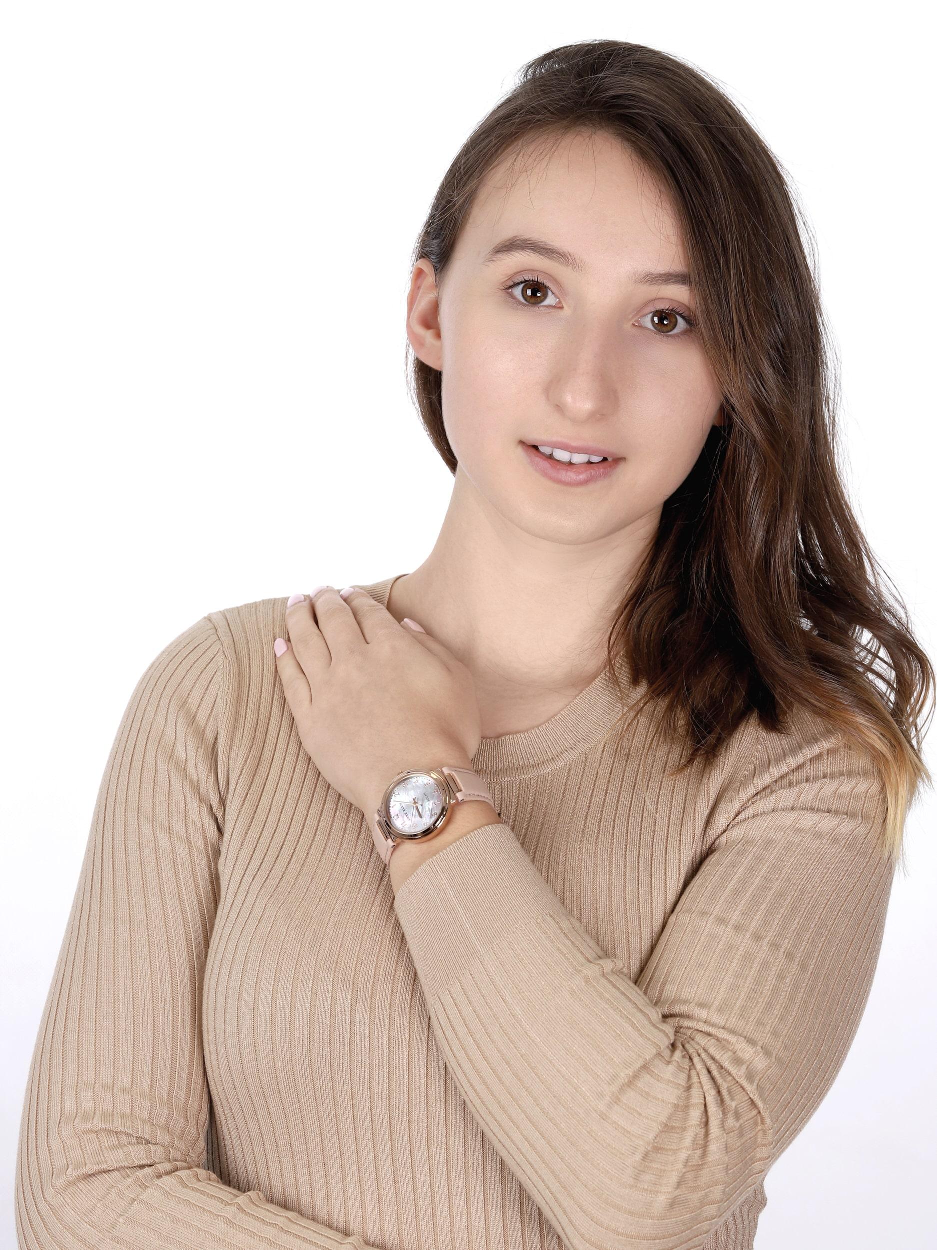 zegarek Anne Klein AK-3712RGBH solar damski Pasek