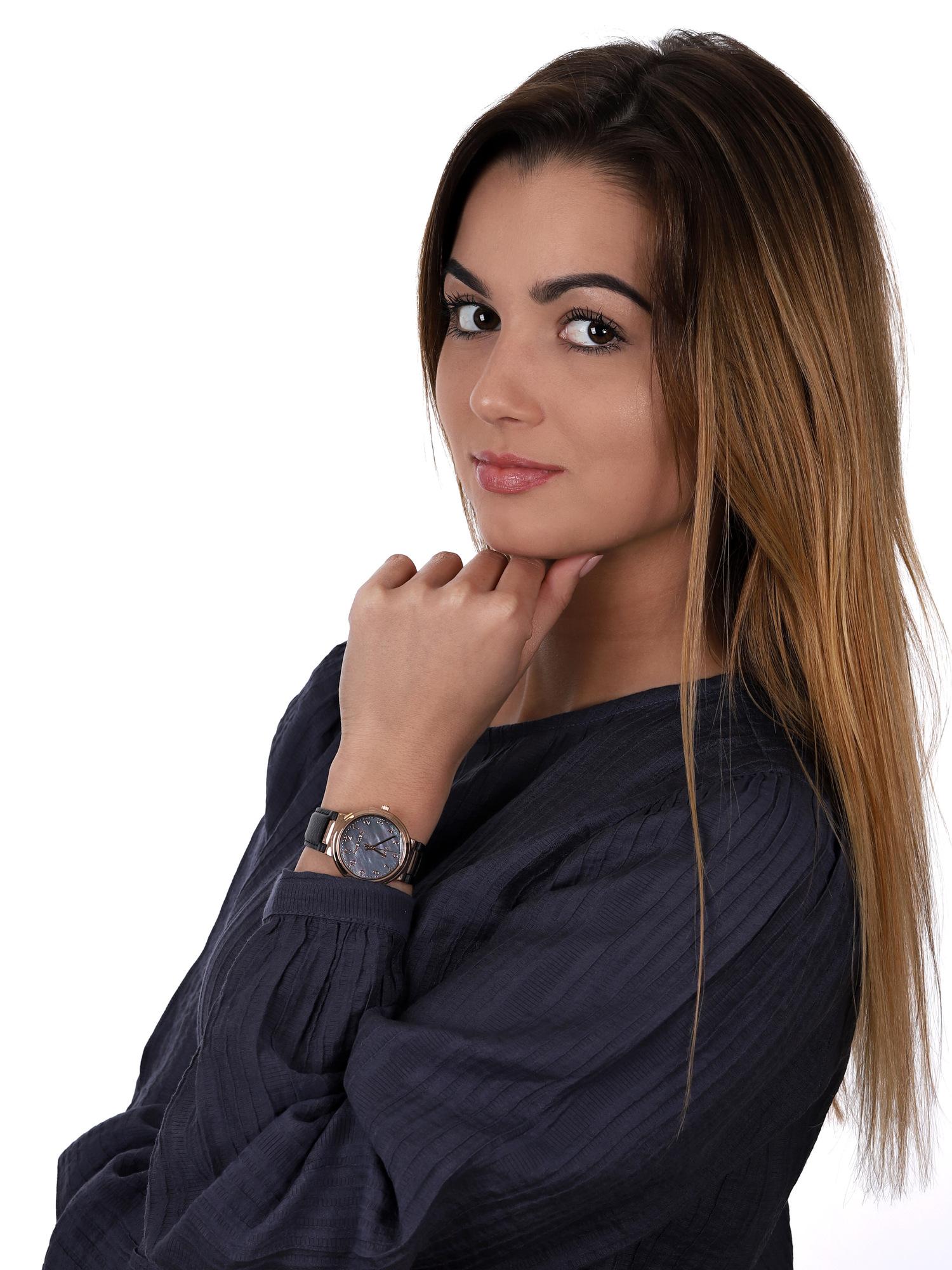 zegarek Anne Klein AK-3712RGBK solar damski Pasek