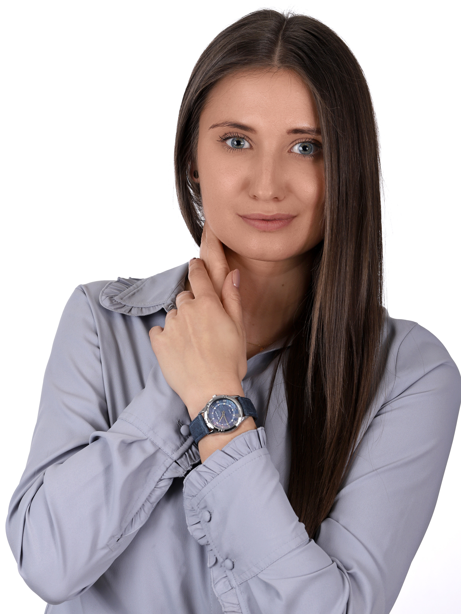 zegarek Anne Klein AK-3767BMBL solar damski Pasek