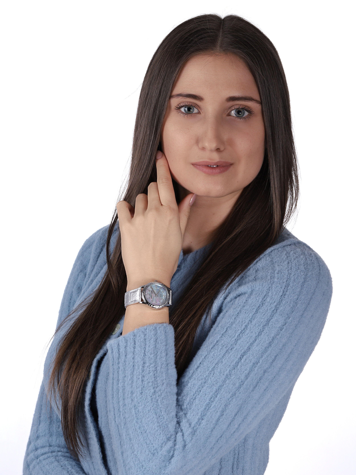 zegarek Anne Klein AK-3767MPSI solar damski Pasek