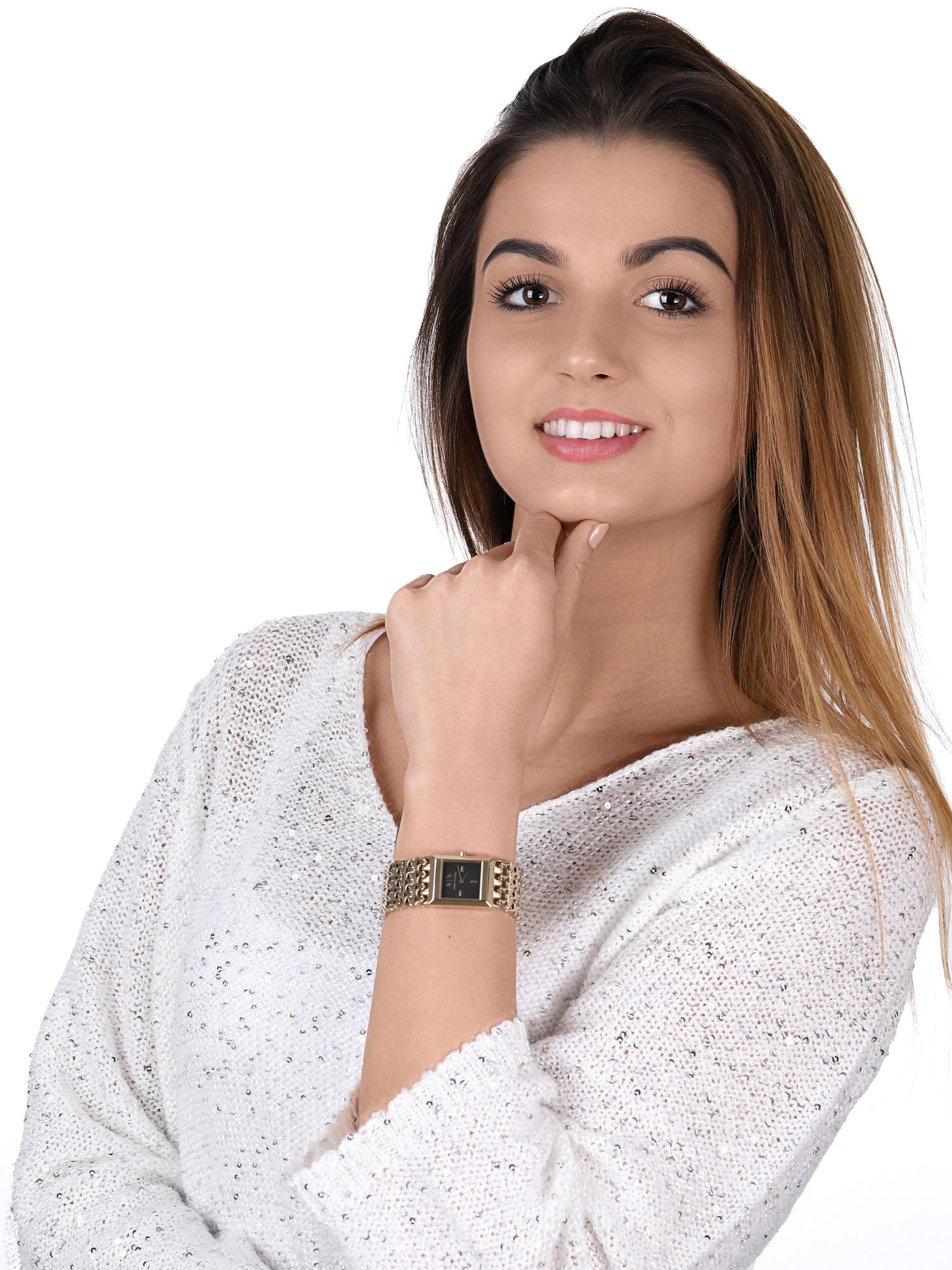 zegarek Armani Exchange AX5909 kwarcowy damski Fashion LOLA SQUARE