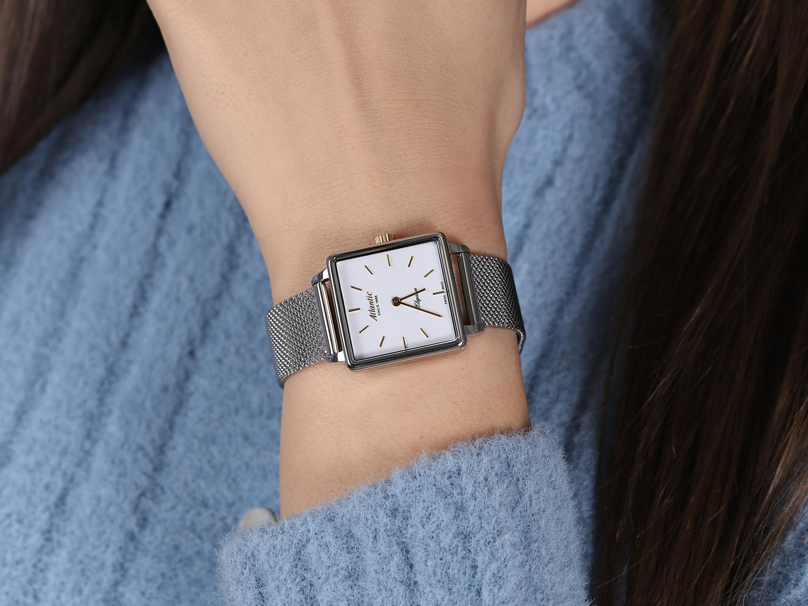 zegarek Atlantic 29041.41.11GMB srebrny Elegance