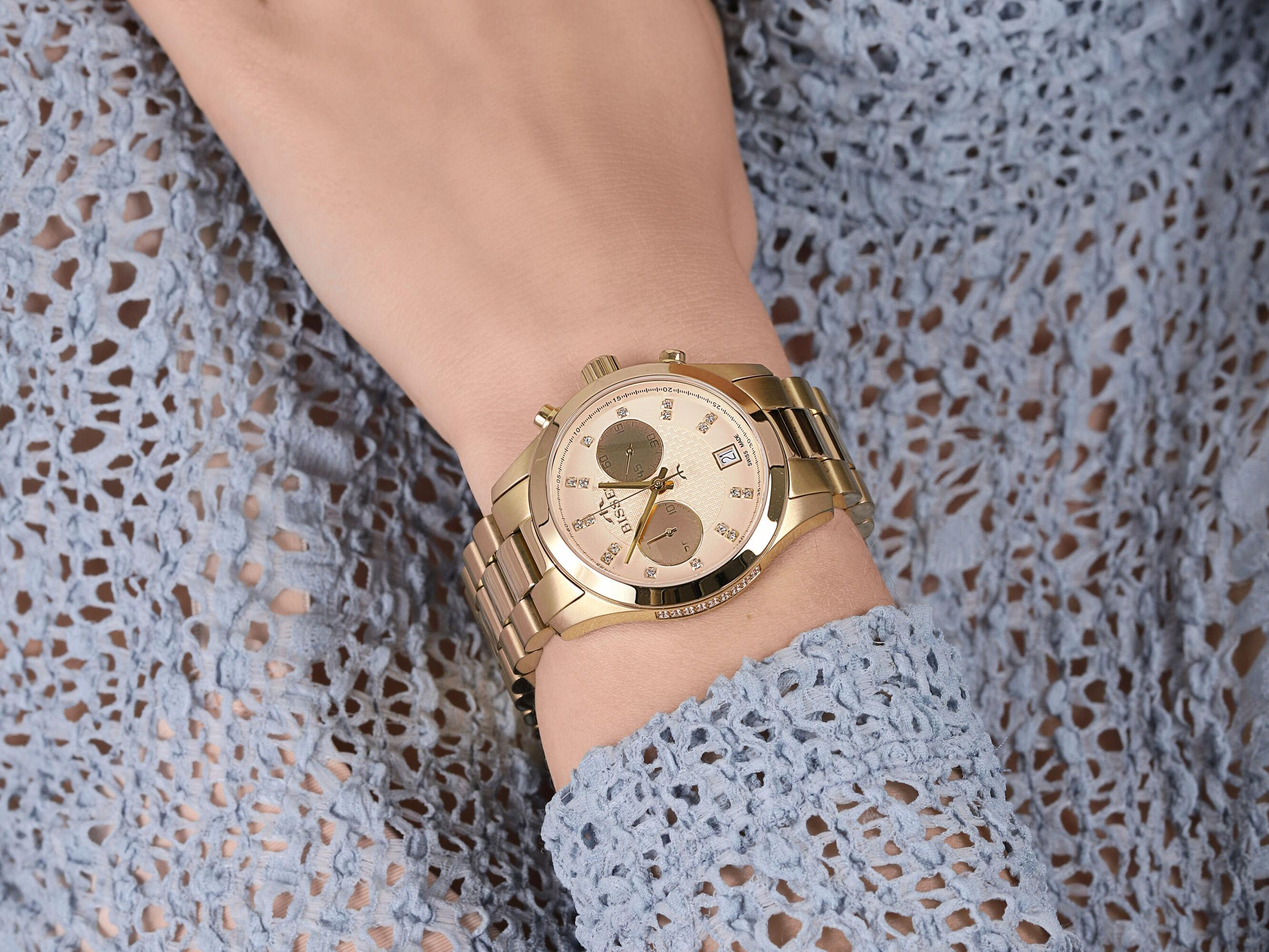 zegarek Bisset BSBE22GIGX05AX damski z chronograf Klasyczne