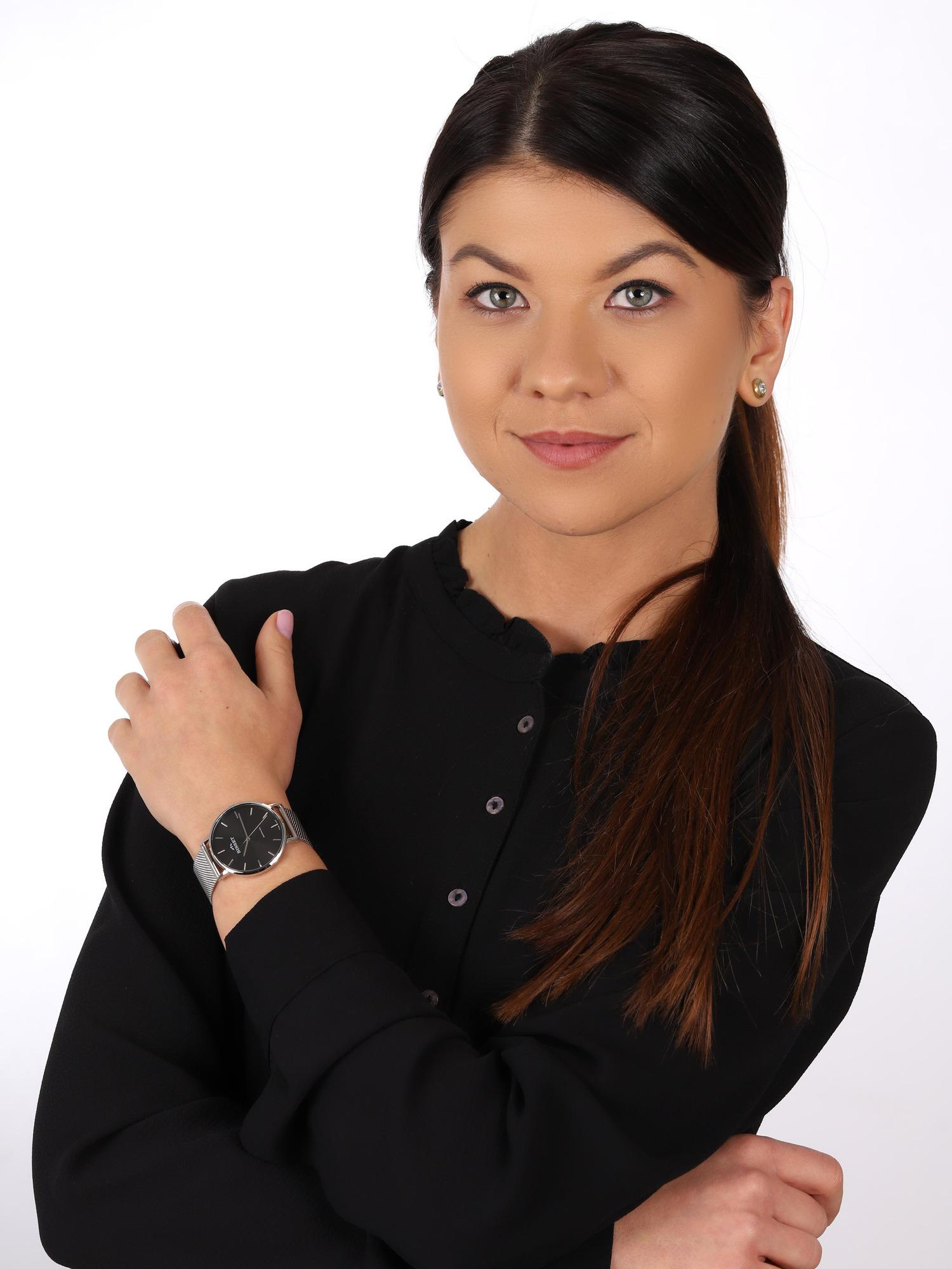zegarek Bisset BSBF33SIBX03BX srebrny Klasyczne