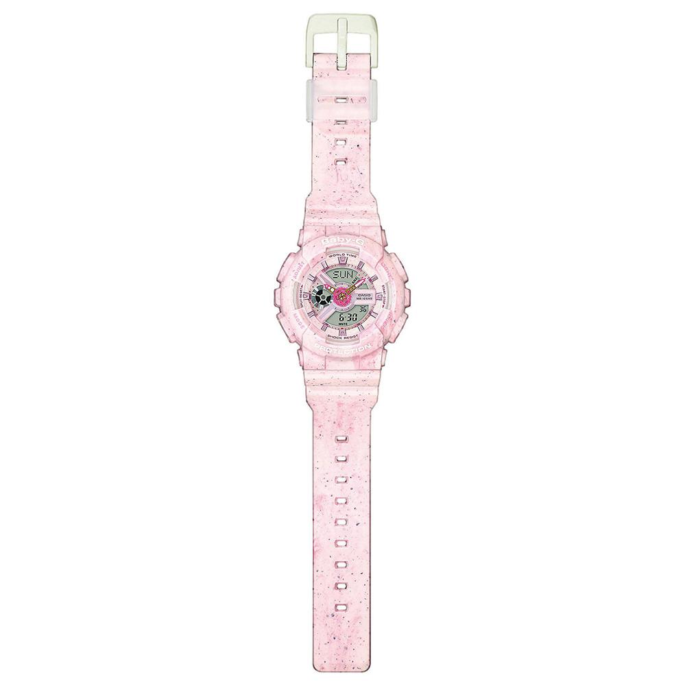 Casio BA-110PI-4AER zegarek różowy sportowy Baby-G pasek