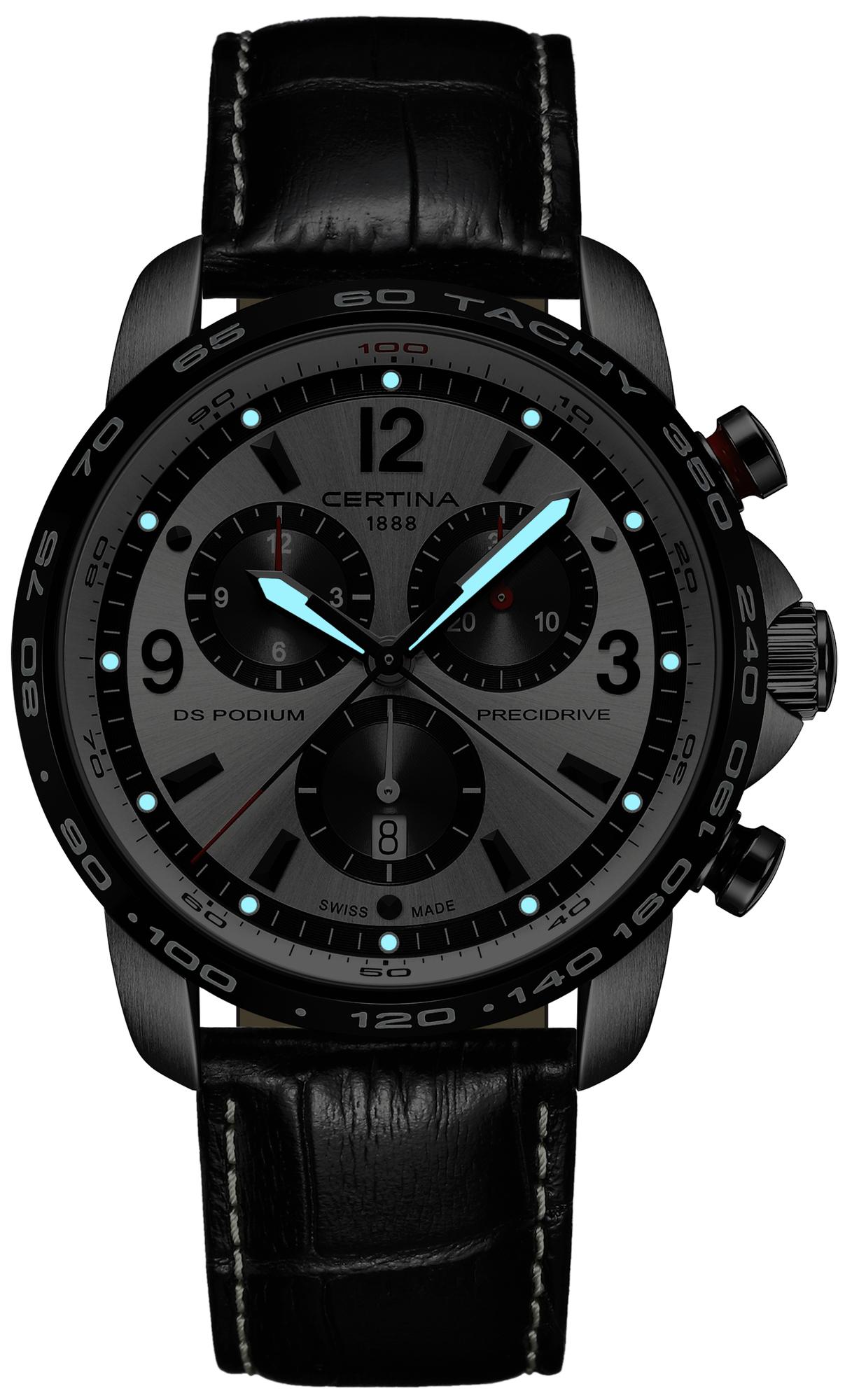 zegarek Certina C001.647.16.037.00 DS Podium Chronograph 1/100 sec męski z tachometr DS Podium